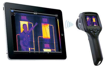 FLIR E-Series Thermal Imaging Camera With Wi-Fi Data and Image Transfer to Apple iPad